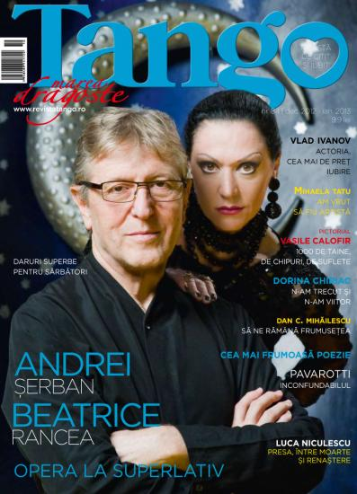 Tango ~~ Coperta: Andrei Serban si Beatrice Rancea ~~ Decembrie 2012 - Ianuaire 2013