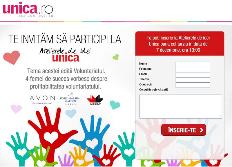 Atelierele de idei UNICA ~~ Editia a 3-a ~~ Tema: Voluntariatul ~~ 10 Decembrie 2012