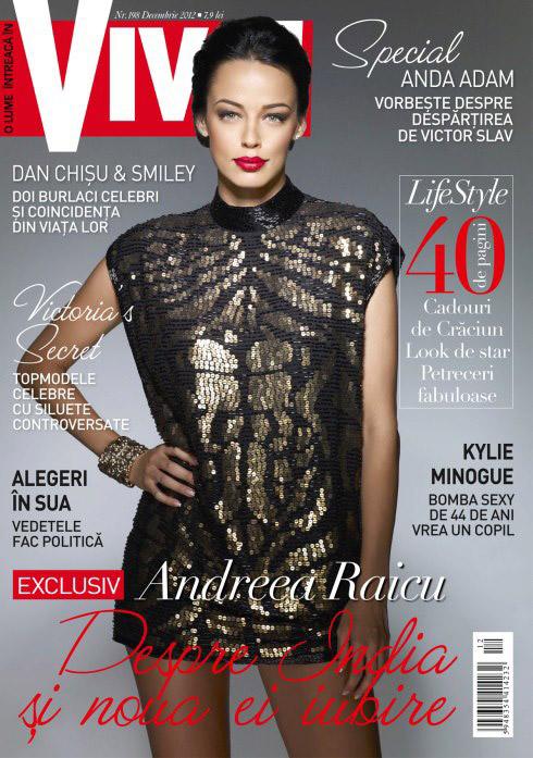 VIVA! Romania ~~ Coperta: Andreea Raicu ~~ Decembrie 2012