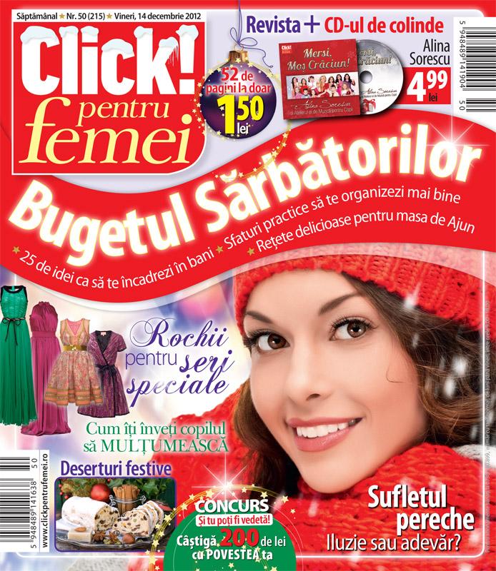 Click pentru femei ~~ Bugetul sarbatorilor ~~ 14 Decembrie 2012 (nr. 50)