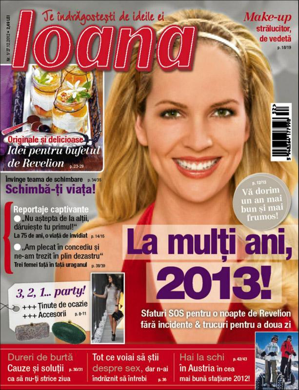 Revista Ioana ~~ Make-up stralucitor, de vedeta ~~ 27 Decembrie 2012