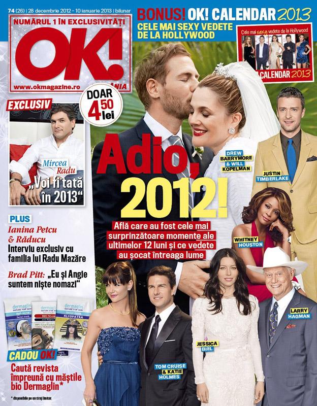 OK! Magazine Romania ~~ Cadou: Dermaglin masca bio pentru fata ~~ 28 Decembrie 2012