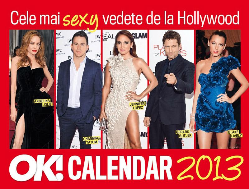 OK! Calendar 2013 ~~ cadoul revista OK! Magazine Romania din 28 Decembrie 2012