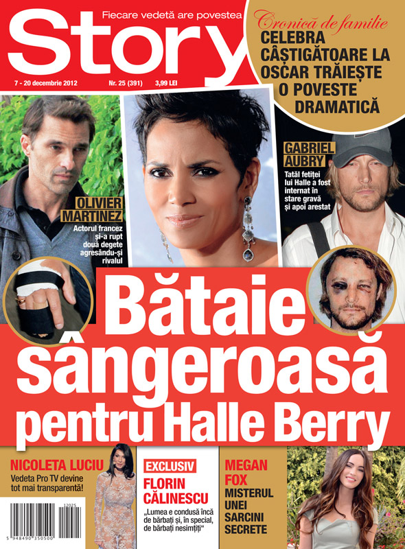 Story Romania ~~ Cover girl: Halle Berry ~~ 7 Decembrie 2012