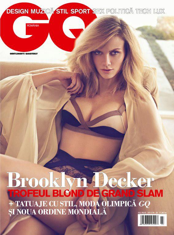 GQ Romania ~~ Cover girl: Brooklyn Decker ~~ Iulie - August 2012 ~~ Pret: 11,90 lei