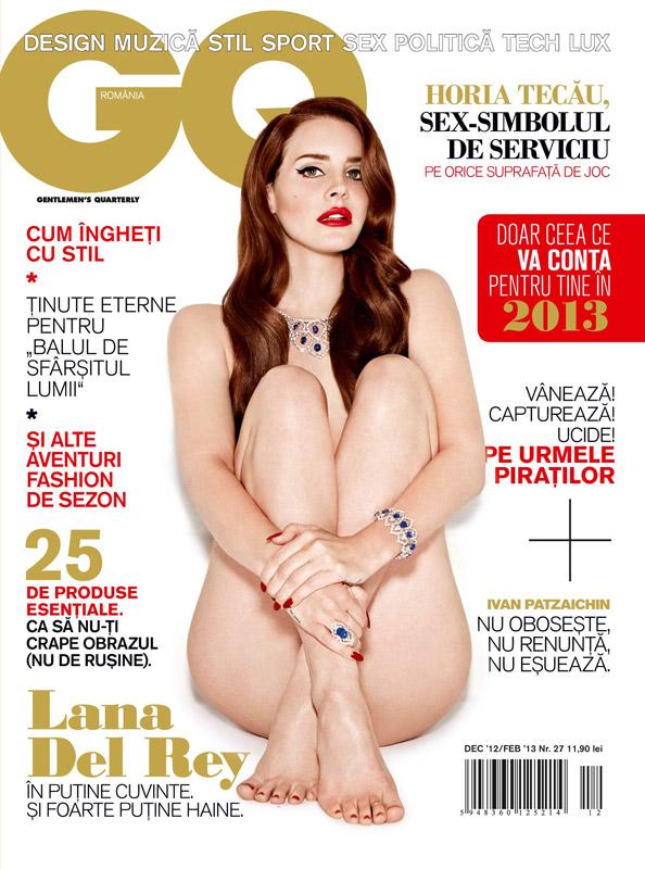 GQ Romania ~~ Cover girl: Lana Del Rey ~~ Decembrie 2012 - Ianuarie 2013 ~~ Pret: 11,90 lei