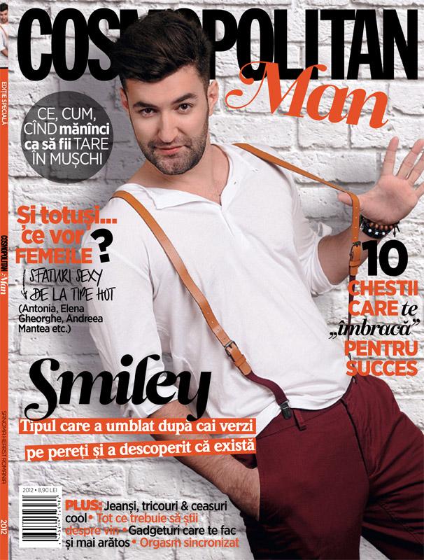 Cosmopolitan Man ~~ Coperta: Smiley ~~ Pachet revista + mini produs Eucerin (30 ml): 9,90 lei