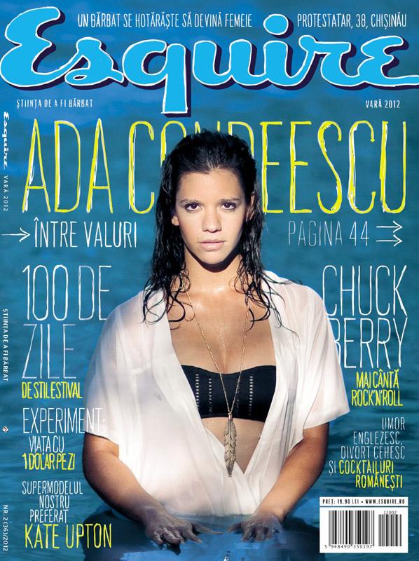 Esquire Romania ~~ Cover girl: Ada Condeescu ~~ Vara 2012 ~~ Pret: 19,90 lei