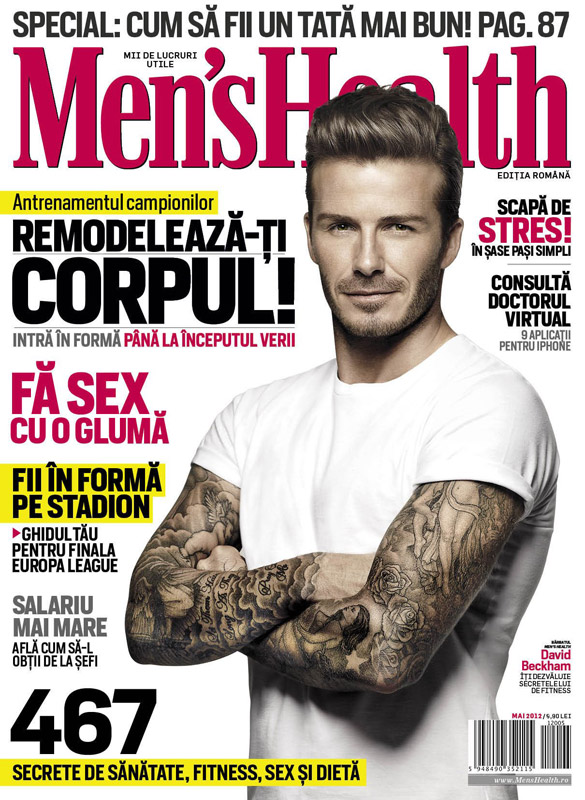 Men\'s Health Romania ~~ Cover man: David Beckham ~~ Mai 2012