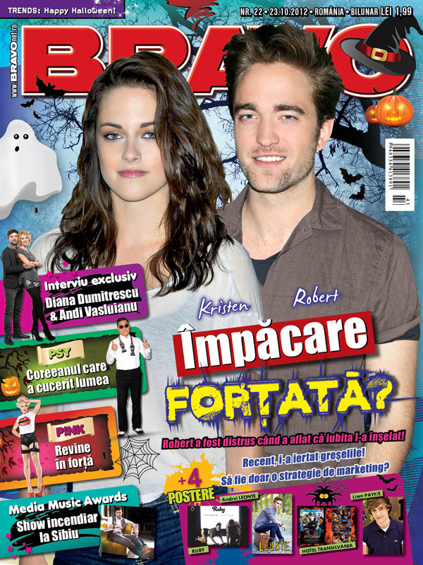 Bravo ~~ Coperta: Kristen si Robert ~~ 23 Octombrie 2012