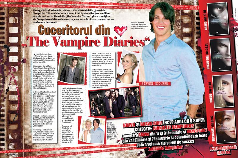 Romanul JURNALELE VAMPIRILOR: REUNIUNEA ~~ impreuna cu <u>Bravo Girl</u> din 7 Feb. 2012 ~~ Pret: 11 lei