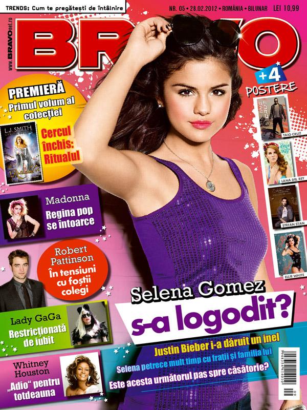 Bravo ~~ Cover girl: Selena Gomez ~~ Prima carte din trilogia CERCUL SECRET: RITUALUL ~~ 28 Februarie 2012 (nr. 5) ~~ Pret: 11 lei