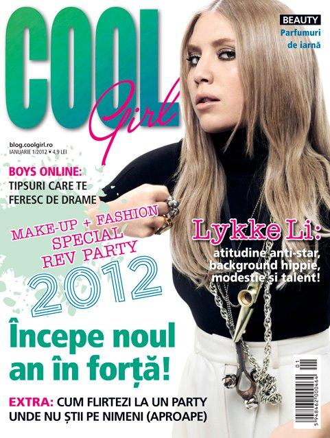 Cool Girl ~~ Cover girl: Lykke Li ~~ Ianuarie 2012
