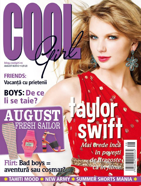 Cool Girl ~~ Cover girl: Taylor Swift ~~ August 2012