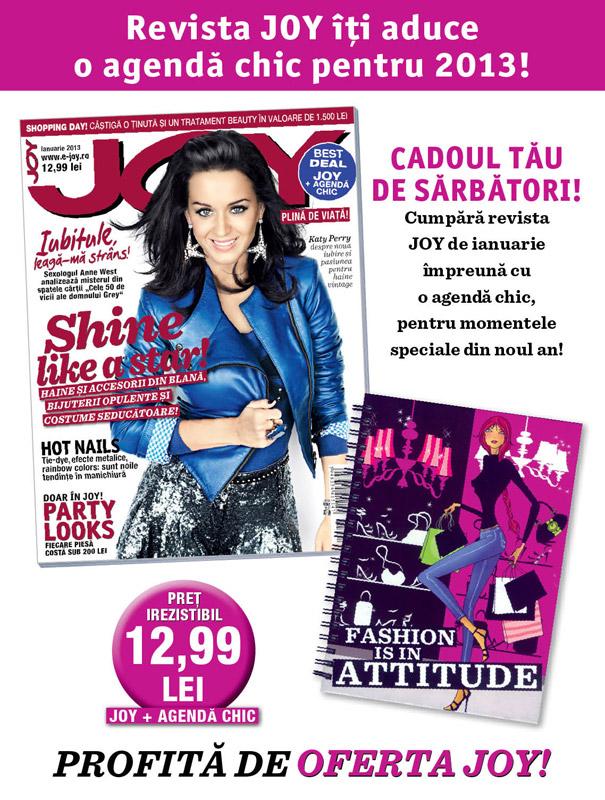 Promo JOY si agenda pentru 2013 ~~ Ianuarie 2013