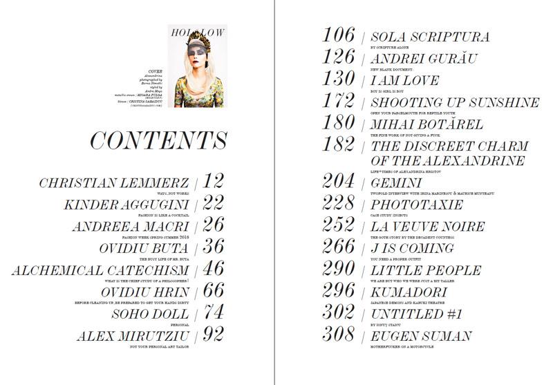 All Hollow Magazine ~~ Cuprinsul editiei de iarna, 2012-2013