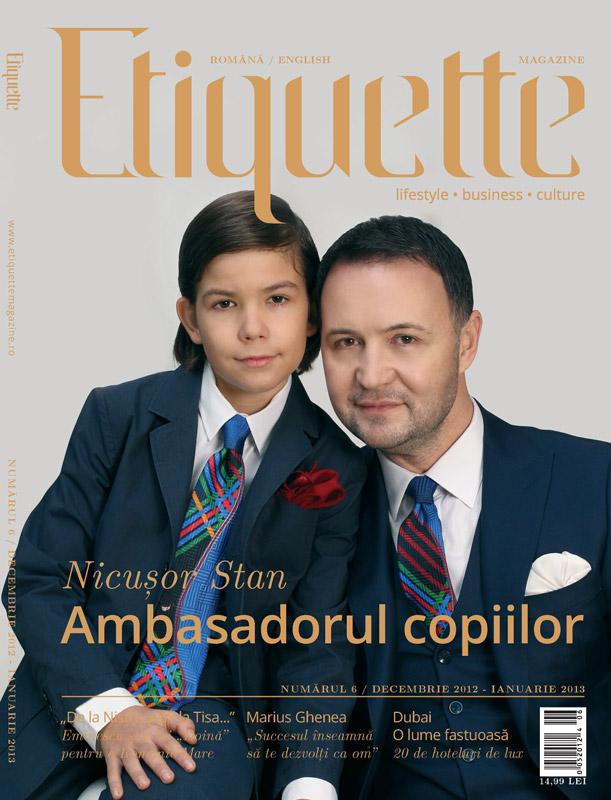 Etiquette Magazine ~~ Coperta: Nicusor Stan ~~ Decembrie 2012 - Ianuarie 2013
