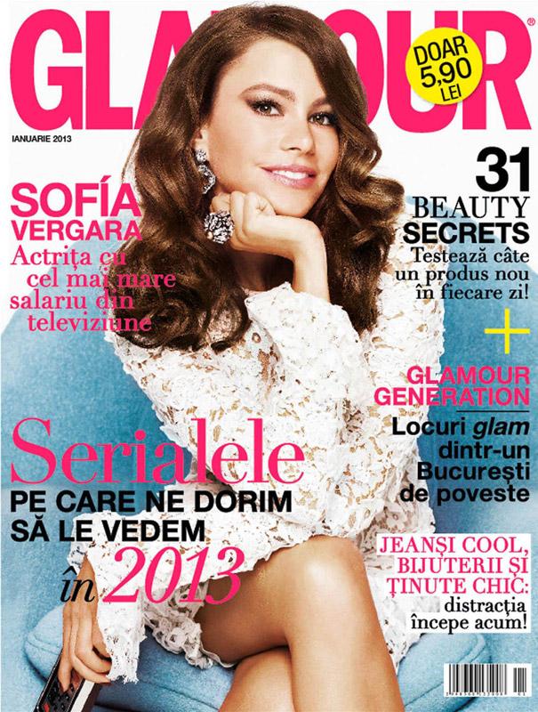 Glamour Romania ~~ Cver girl: Sofia Vergara ~~ Ianuarie 2013