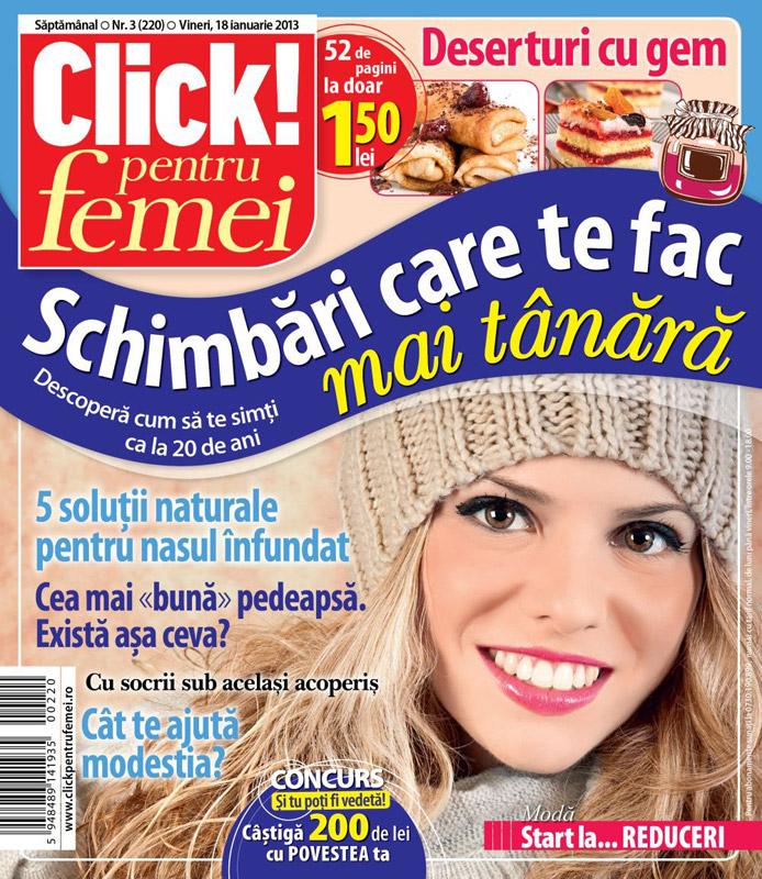 Click! pentru femei ~~ Schimbari care te fac mai tanara ~~ 18 Ianuarie 2013 (nr. 3)