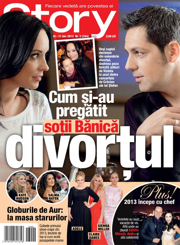 Story Romania ~~ Cover story: Cum si-au pregatit sotii Banica divortul ~~ 18 Ianuarie 2012 (nr. 2)