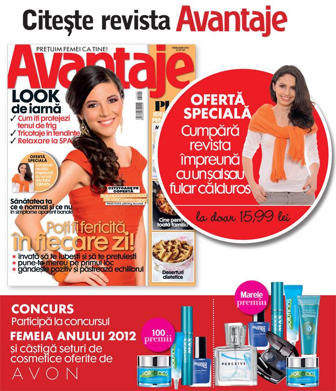 Promo pentru revista AVANTAJE ~~ Februarie 2013