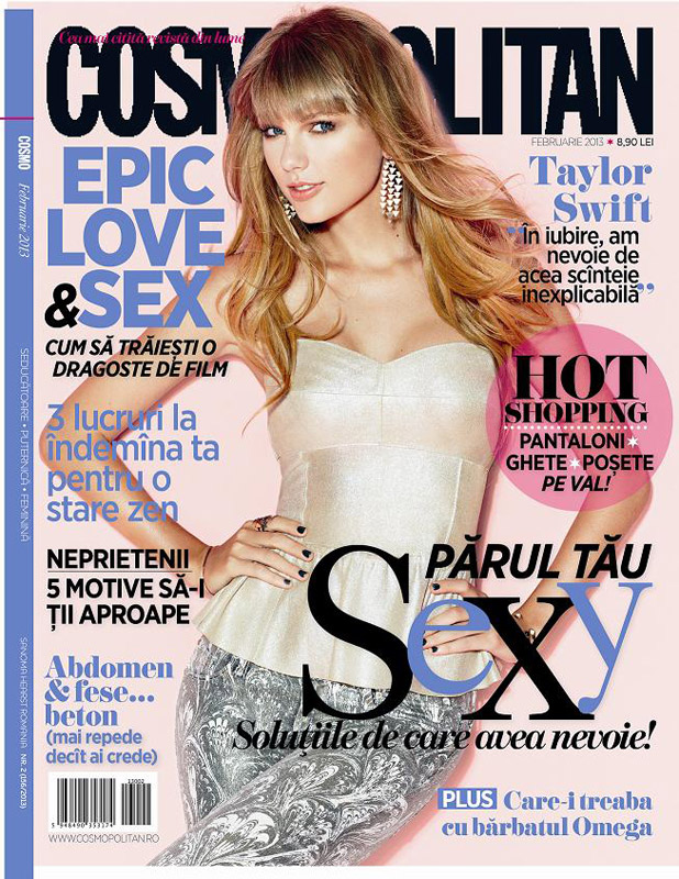 Cosmopolitan Romania ~~ Cover girl: Taylor Swift ~~ Februarie 2013
