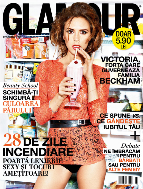 Glamour Romania ~~ Cover girl: Victoria Beckham ~~ Februarie 2013