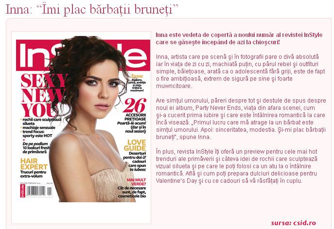 Promo InStyle Romania, editia Ianuarie-Februarie 2013