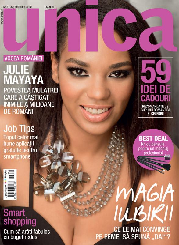 Unica ~~ Coperta: Julie Mayaya ~~ Februarie 2013