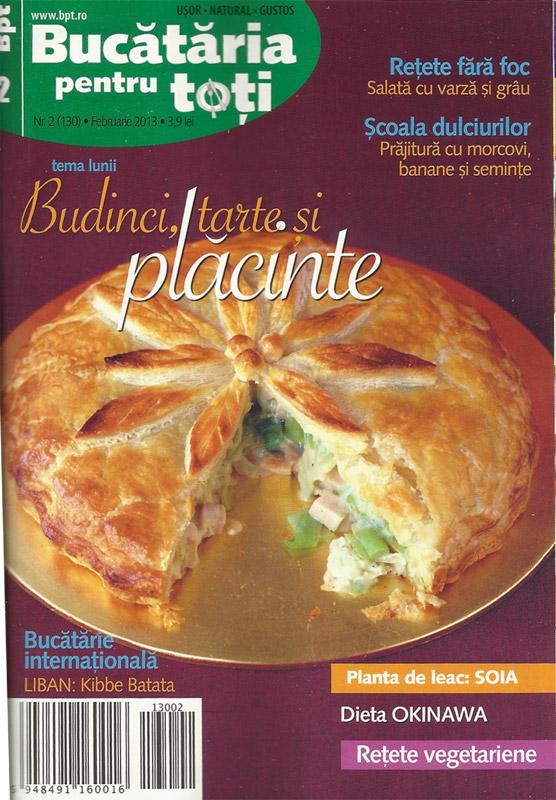 Bucataria pentru toti ~~ Tema lunii: Budinci, tarte si placinte ~~ Februarie 2013