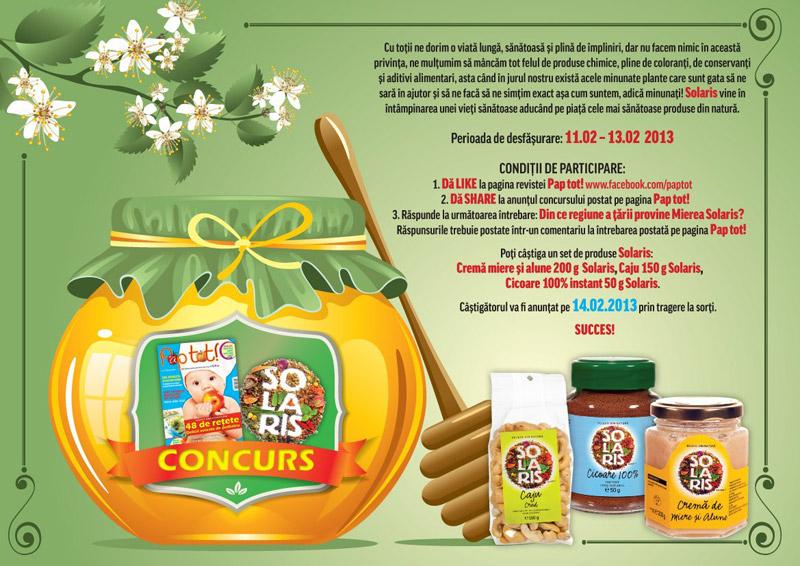Concurs Revista Pap tot! si Solaris ~~ Februarie 2013