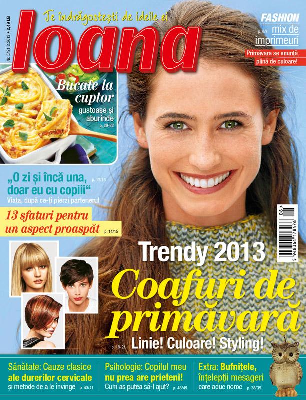 Revista Ioana ~~ Trendy 2013: Coafuri de primavara ~~ 21 Februarie 2013