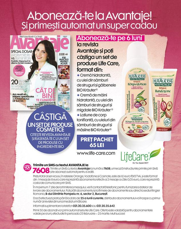 Campanie de abonamente la revista AVANTAJE ~~ 25 Februarie - 25 Martie 2013