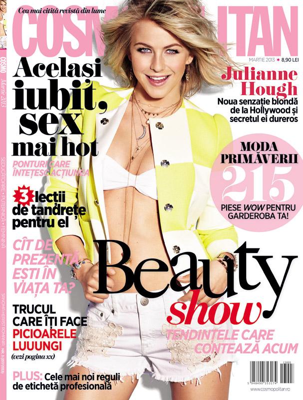 Cosmopolitan Romania ~~ Cover girl: Julianne Hough ~~ Martie 2013