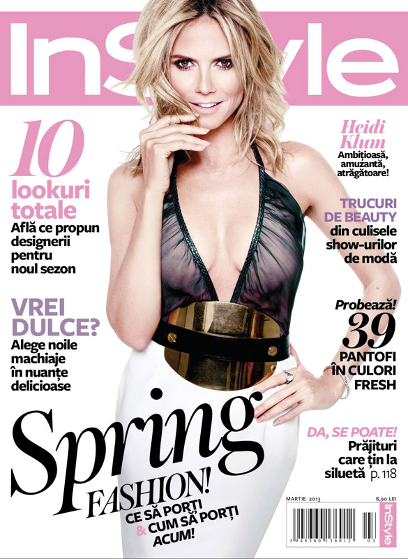 InStyle Romania ~~ Cover girl: Heidi Klum ~~ Martie 2013