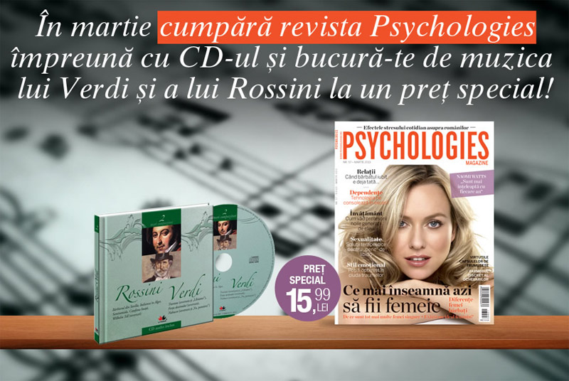 Promo revista Psychologies Magazine, editia Martie 2013