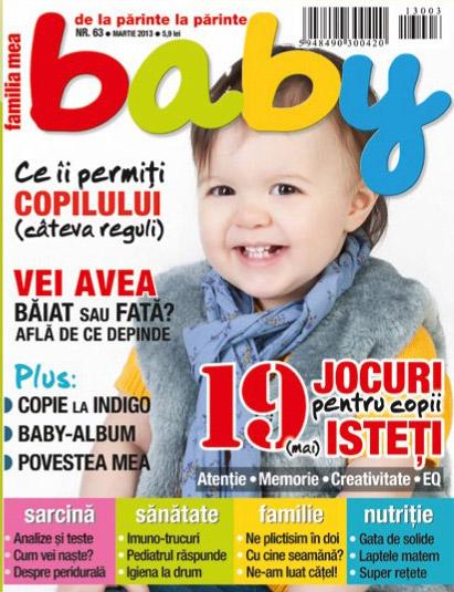 Revista BABY ~~ 19 jocuri pentru copii mai isteti ~~ Martie 2013