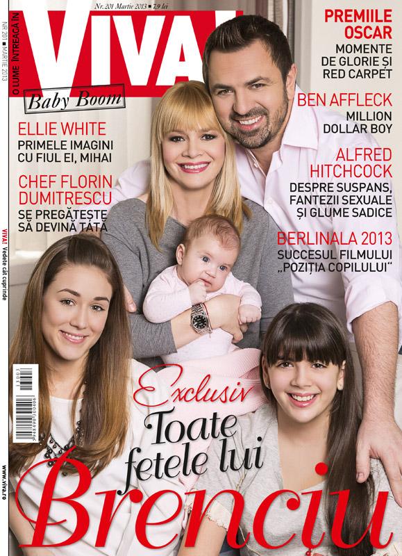 VIVA! ~~ Coperta: Horia Brenciu si familia sa ~~ Martie 2013