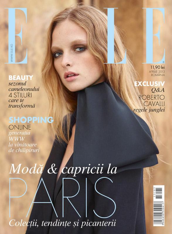 ELLE Romania ~~ Cover story: Moda si capricii la Paris. Colectii, tendinte si picanterii ~~ Aprilie 2013