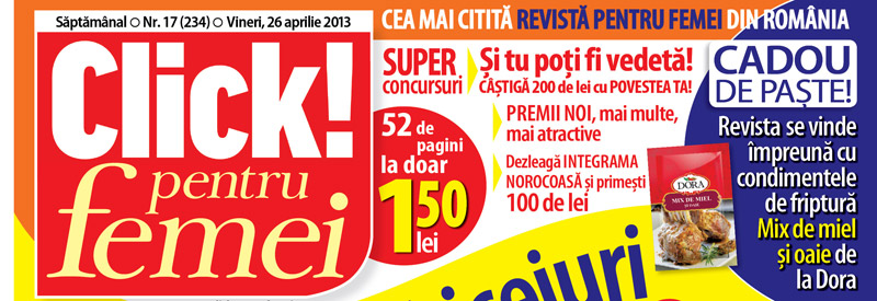 Condimente de friptura MIX DE MIEL SI OAIE de la Dora, cadoul revistei Click! pentru femei nr. 17 ~~ Pret: 1,50 lei
