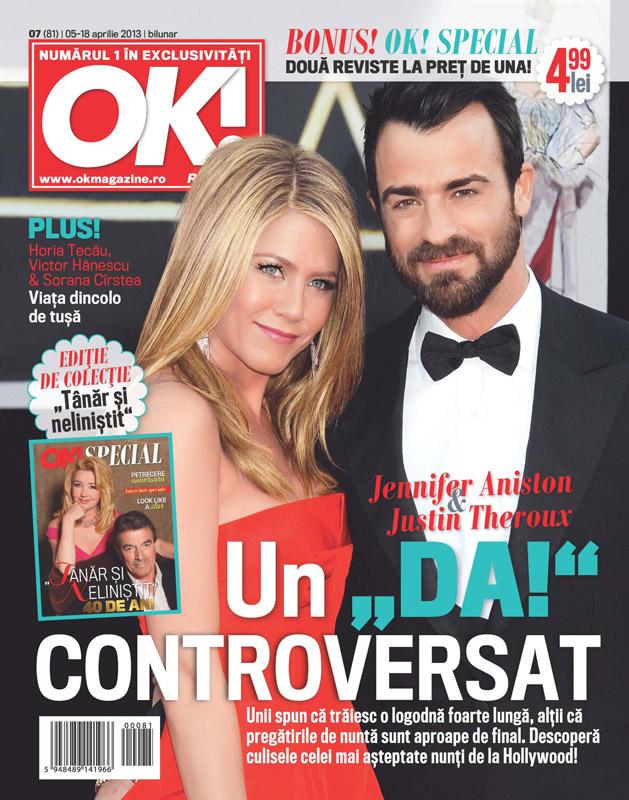 OK! Magazine Romania ~~ Cover girl: Jennifer Aniston ~~ 5 Aprilie 2013