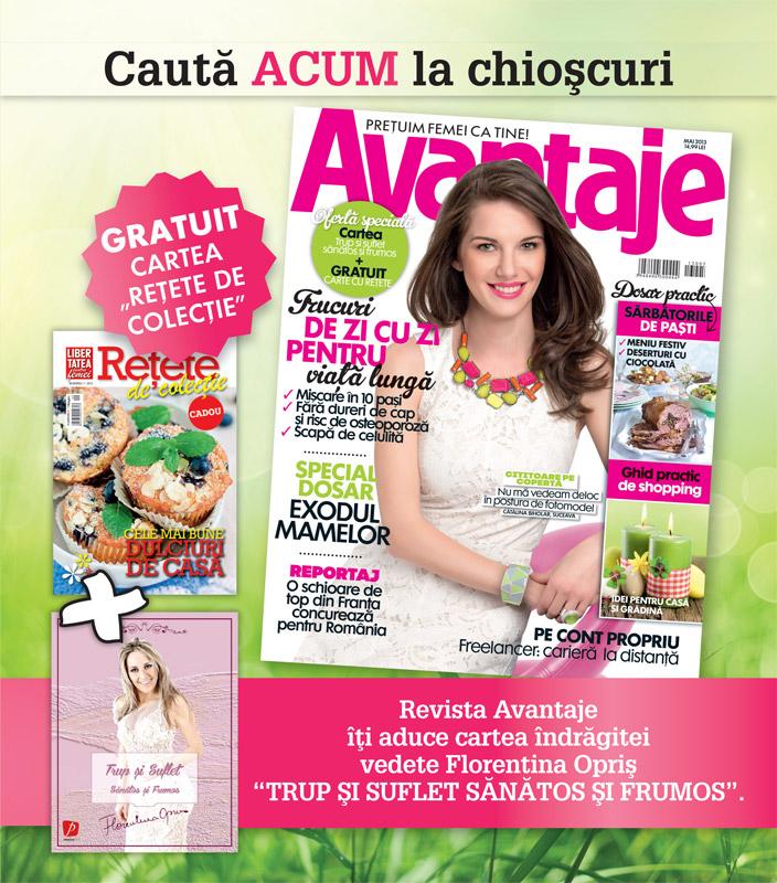 Promo pentru revista AVANTAJE, editia Mai 2013