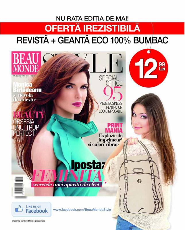Promo pentru revista Beau Monde Style, editia Mai 2013
