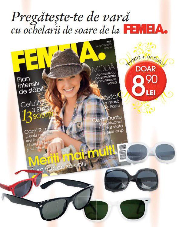 Promo pentru revista FEMEIA., editia Mai 2013