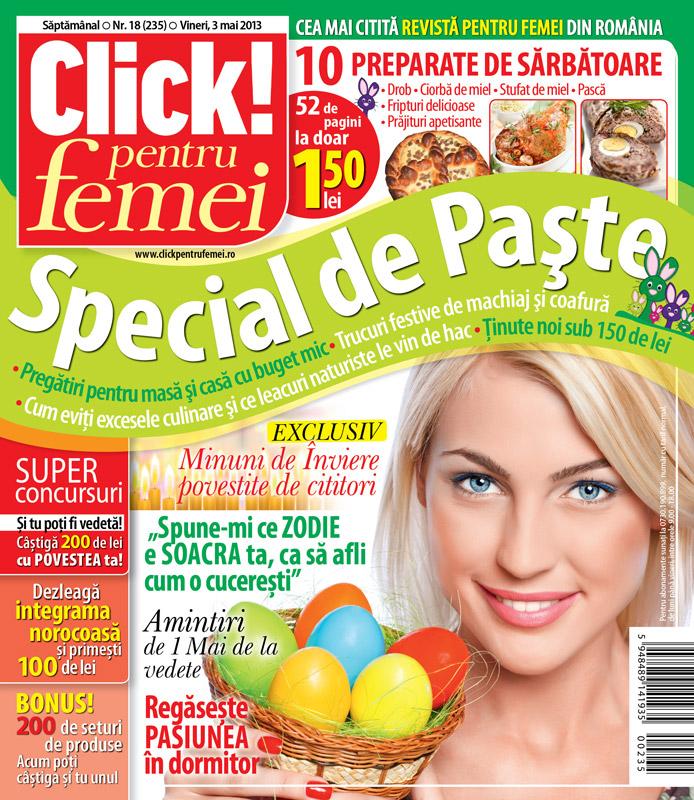 Click! pentru femei ~~ Special de Paste ~~ 3 Mai 2013