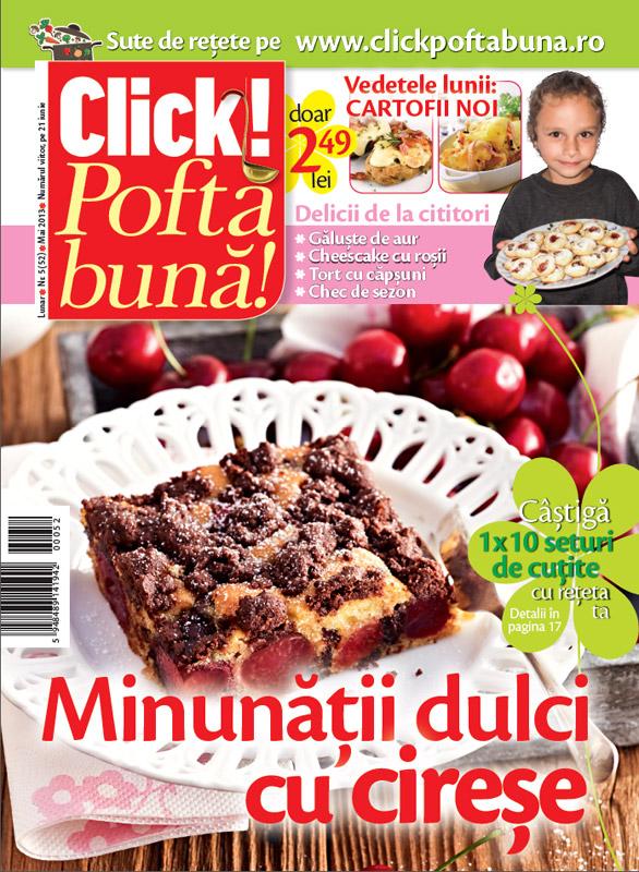 Click Pofta buna! ~~ Minunatii dulci cu cirese ~~ Mai 2013
