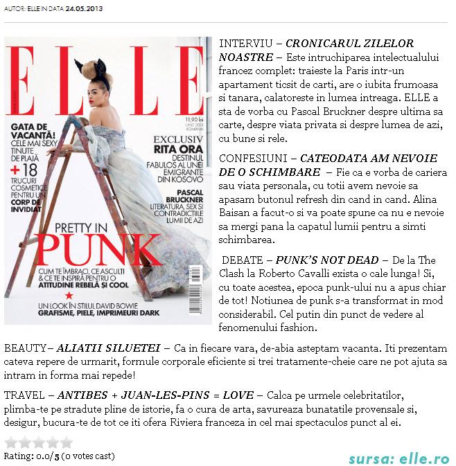 Promo pentru revista ELLE Romania, editia Iunie 2013