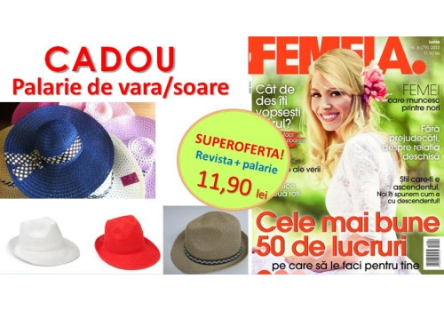 Promo pentru revista FEMEIA., editia Iunie 2013