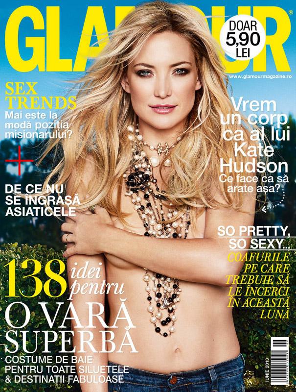 Glamour Romania ~~ Covergirl: Kate Hudson ~~ Iunie 2013