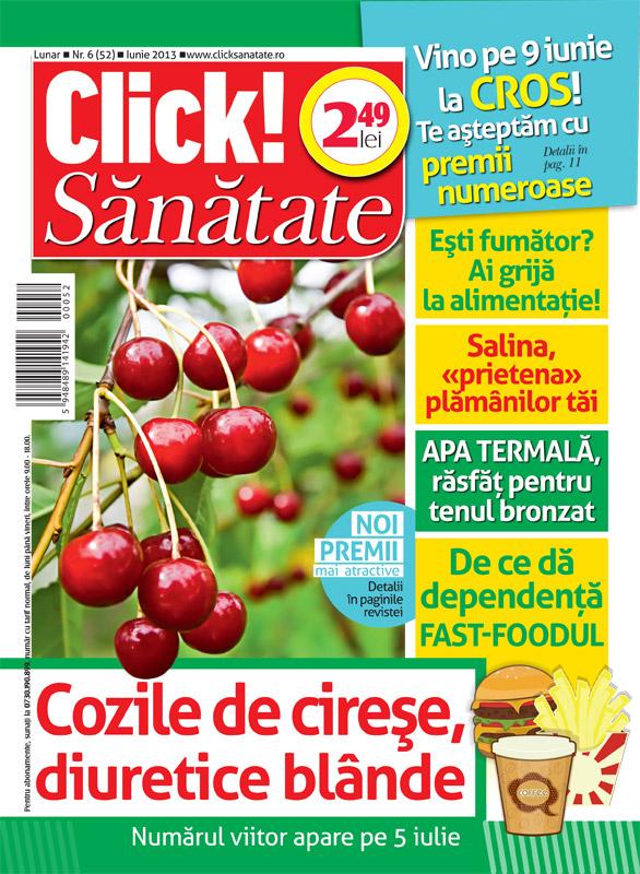 Click! Sanatate ~~ Cozile de cirese, diuretice blande ~~ Iunie 2013